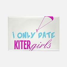 I Only Date Kiter Girls Rectangle Magnet