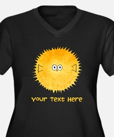 Pufferfish. Add Your Text. Plus Size T-Shirt