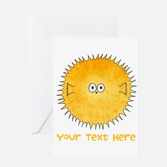 Pufferfish. Add Your Text. Greeting Card