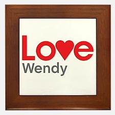 I Love Wendy Framed Tile