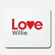 I Love Willie Mousepad