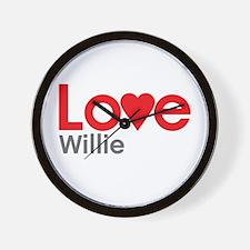 I Love Willie Wall Clock