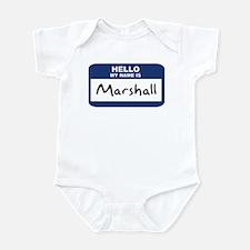 Hello: Marshall Infant Bodysuit