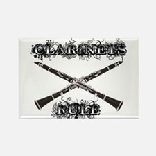 Clarinets Rule Rectangle Magnet