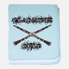 Clarinets Rule baby blanket