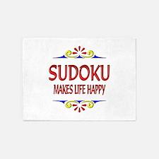 Sudoku Happy Life 5'x7'Area Rug