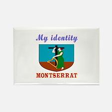 My Identity Montserrat Rectangle Magnet