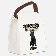 Scottish Terrier Mom Canvas Lunch Bag