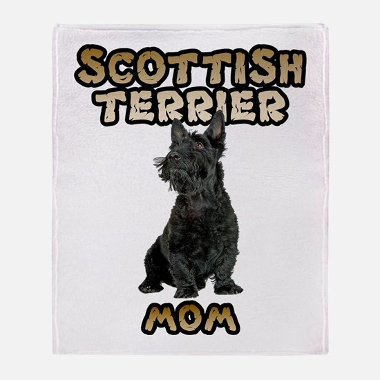 Scottish Terrier Mom Throw Blanket