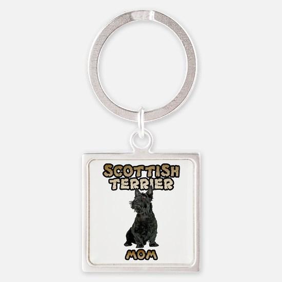 Scottish Terrier Mom Square Keychain