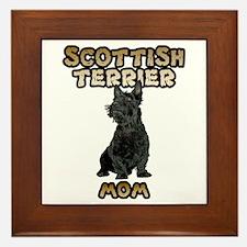 Scottish Terrier Mom Framed Tile