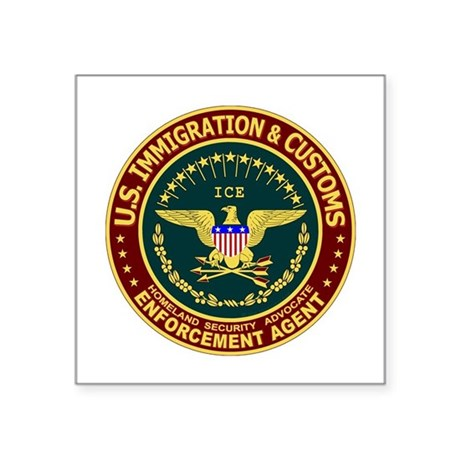 IMMIGRATION & CUSTOMS - ICE: Oval Sticker