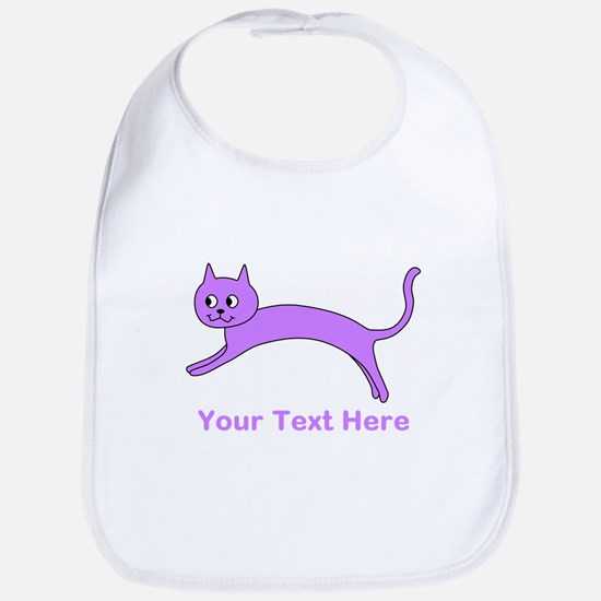 Jumping Purple Cat, Text. Bib