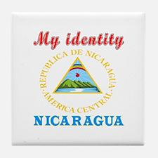 My Identity Nicaragua Tile Coaster