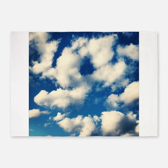 Fluffy Clouds Print 5'x7'Area Rug
