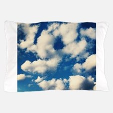 Fluffy Clouds Print Pillow Case
