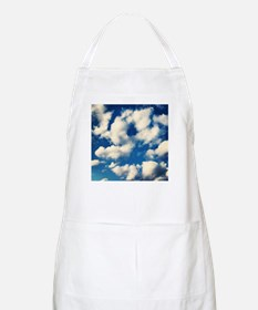 Fluffy Clouds Print Apron