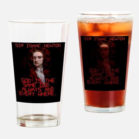 God Is The Same God - Isaac Newton Drinking Glass