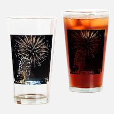 Fireworks Over Fairground Print Drinking Glass