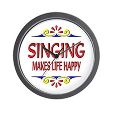Singing Happy Life Wall Clock