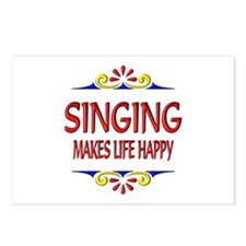Singing Happy Life Postcards (Package of 8)