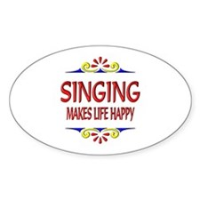 Singing Happy Life Decal