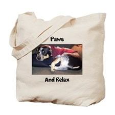 Paws and Relax Tote Bag