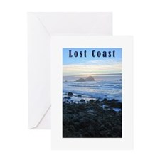 Lost Coast Sunset Greeting Card