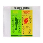 Success Indicator Throw Blanket