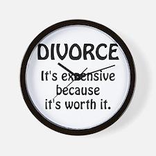 Divorce Worth It Wall Clock