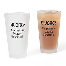 Divorce Worth It Drinking Glass