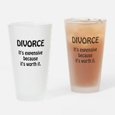 Divorce Worth It Drinking Glass