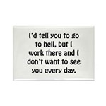 Go To Hell Work Rectangle Magnet (100 pack)