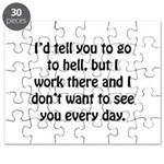 Go To Hell Work Puzzle