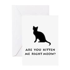 Kitten Meow Greeting Card