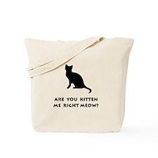 Kitten Meow Tote Bag