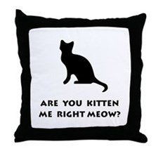 Kitten Meow Throw Pillow