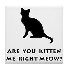 Kitten Meow Tile Coaster