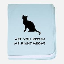 Kitten Meow baby blanket