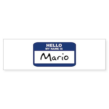Hello: Mario Bumper Sticker