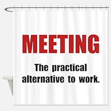 Meeting Work Shower Curtain