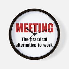 Meeting Work Wall Clock