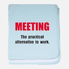 Meeting Work baby blanket