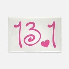 13.1 Curly Half Marathon Rectangle Magnet