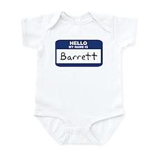 Hello: Barrett Infant Bodysuit