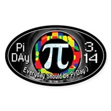 Pi Day Oval 1 Decal