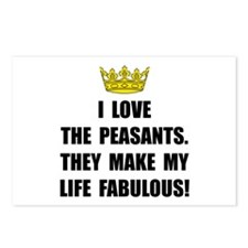 Peasants Fabulous Postcards (Package of 8)