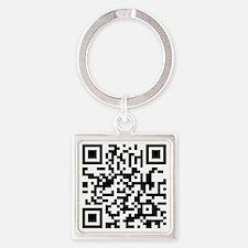 QR Code Square Keychain