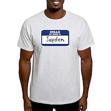 Hello: Jayden Ash Grey T-Shirt