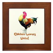 Chicken Lovers Framed Tile